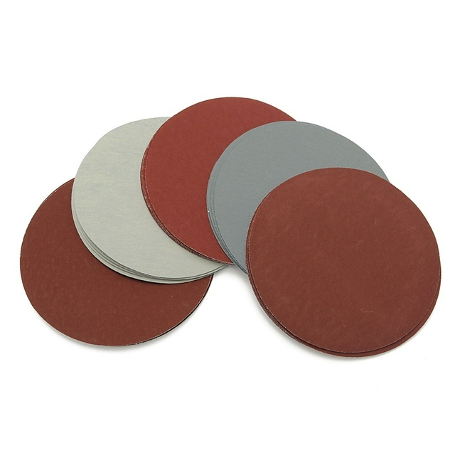 30pcs 50mm 2 Inches Grit 800 1000 1200 1500 2000 3000 Sanding Discs Hook Loop Sandpaper Round Sandpaper Disk Sand Sheet
