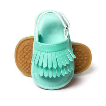 Baby Sandals PU Baby Girl Shoes Newborn PU Tassel Fashion Baby Girl Sandals 9 Color Baby Boy Shoes 2018 Summer Boy Sandals 1