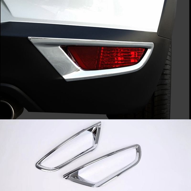 MONTFORD For Mazda CX-3 CX3 <font><b>2015</b></font> 2016 2017 2018 ABS Chrome Rear Fog Light Lamp Cover Trims Foglight Mouldings 2Pcs Accessories image