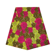 veritable dutch Printed in fabric African wax block 100% cotton 6yards ankara colorful flower design for african woman V-L 547 цена