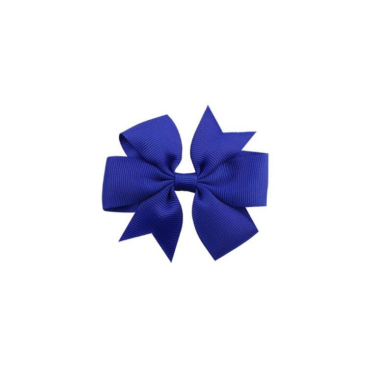 40 цветов сплошная корсажная лента банты заколки шпилька девушка бант для волос, бутик заколки для волос аксессуары для волос - Color: a22 Royal Blue