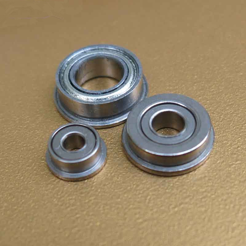 Inner Diameter 2-10mm Miniature Metal Double Shielded Flanged Ball Bearings
