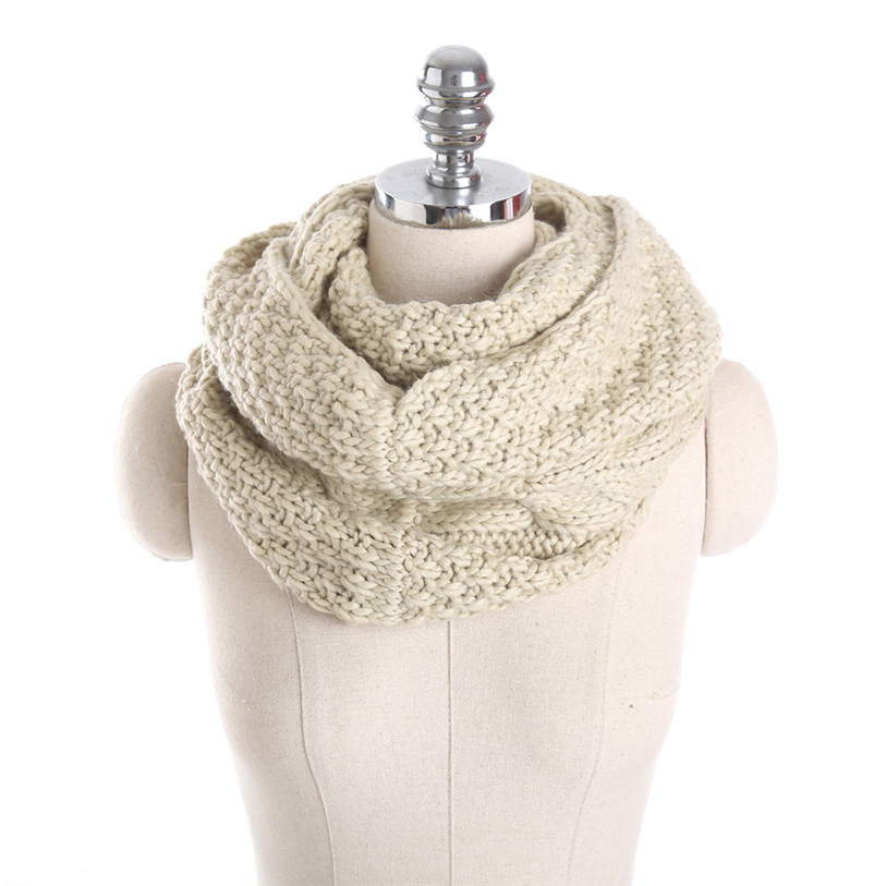 Women Autumn Winter Neutral Knitted Circle Scarf Wrap Winter Warm Collar  female Warm neckerchief lenco feminino foul No 9