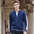 Pioneer Camp new Spring hoodies men brand clothing blue men zipper hoodies top quality fashion casual sweatshirts male 622192