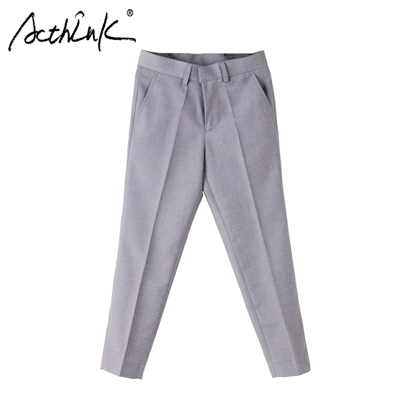 ActhInK New Big Boys Formal Performance Suit Pantal Pantalon Garcon Brand Gentle Style Copii Grey Pantaloni de Nunta Băieți Pantaloni, C258