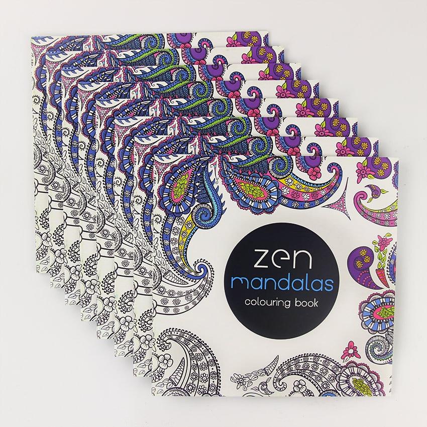 24 страницы Красивая Мандала Цветок раскраска Картина граффити книга Дети Девушки Искусство Рисунок снять стресс Досуг книга