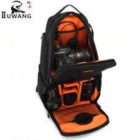 HuWANG Camera Bag Handbags with Rain Cover For DSLR Cameras Tripod Lens Pouch Photo Bags For 3 4 Extra Lens
