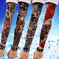 Manga longa Tatuagem Falsa Clibe Praia Bicicleta Tattoo Arm Warmers Cuff Luva Tampa UV Proteção Solar Novo 4 PC