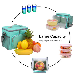 Image 2 - Insulated Lunch Bag Tote Box Picnic Tote with Adjustable Shoulder Strap Leakproof & Fashionable Cooler Tote Bag for Adult & Kids