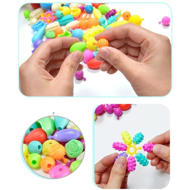 400pcs 100pcs Pop Beads Children jewelry Amblyopia Candy Colors DIY Wear Bead Bracelet Kids Toys Personalized