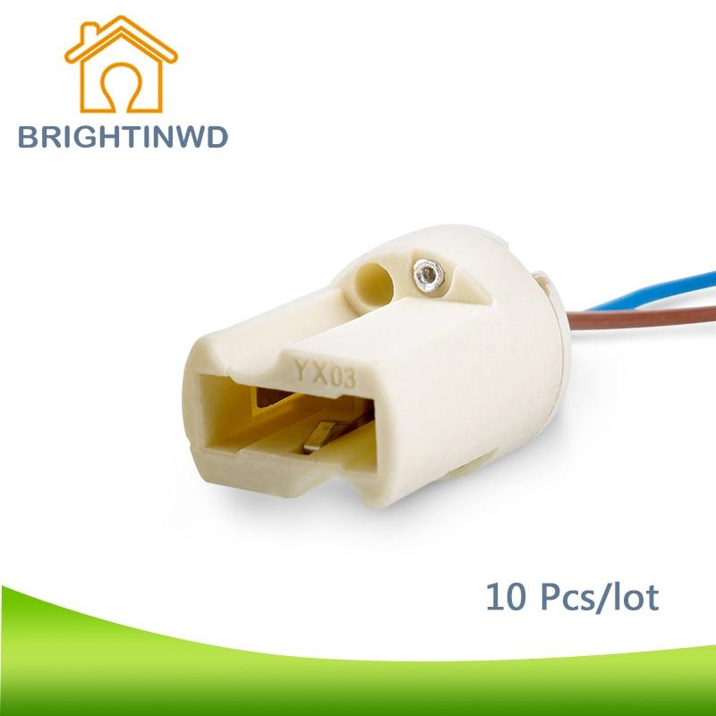 Brightinwd 10x G9 Ceramics Lamp Base Lamp Holder G9 Fitting Socket
