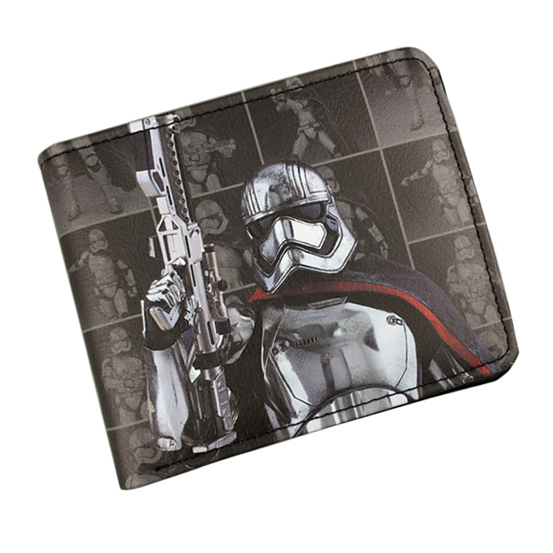 Hot Comics Wallets Star Wars Movies Purse Starwar Characters Dollar Bags Gift Teenager Leather Short Wallet Men with Coin Pocket bioworld star wars men short wallet cartoon anime starwar movie hero purse dollar bags casual leather wallets free shipping