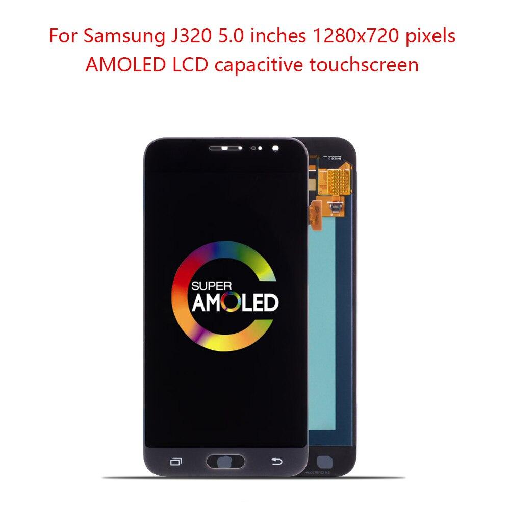 Originale Super AMOLED da 5.0 A CRISTALLI LIQUIDI Per SAMSUNG Galaxy J320 LCD di Tocco Digitale Dello Schermo Per SAMSUNG J3 2016 Display J320F j320H J320MOriginale Super AMOLED da 5.0 A CRISTALLI LIQUIDI Per SAMSUNG Galaxy J320 LCD di Tocco Digitale Dello Schermo Per SAMSUNG J3 2016 Display J320F j320H J320M