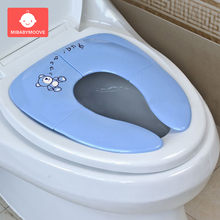 все цены на Baby Travel Folding Potty Seat Pad Toddler Kids Portable Toilet Potty Training Seat Cover Children Bedpan Urinal Cushion Mat онлайн
