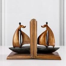 Vintage Style Decorative Sailboat Sailing boat Sailing ship Design Resin Bookshelf Bookends 12cm(L)*17cm(H)*9cm(W)