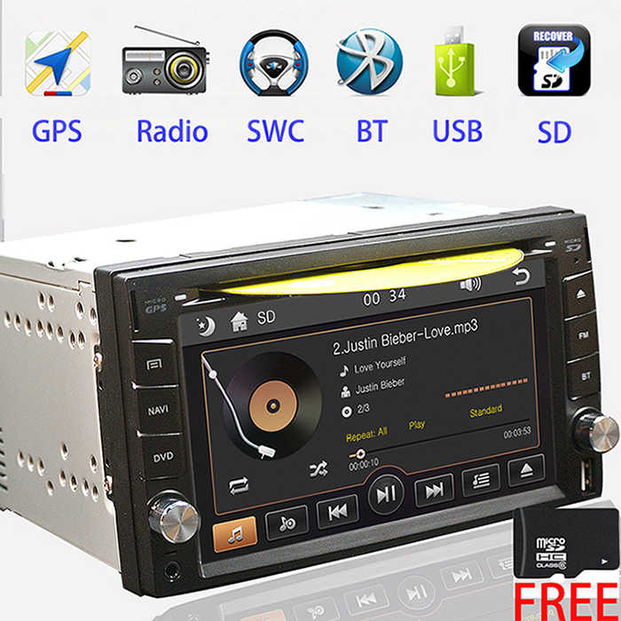 2din samochodowy radioodtwarzacz dvd uniwersalne radio GPS Bluetooth dla X-TRAIL Qashqai x trail juke dla nissan autoradio mp3 mp5 FM USB/SD
