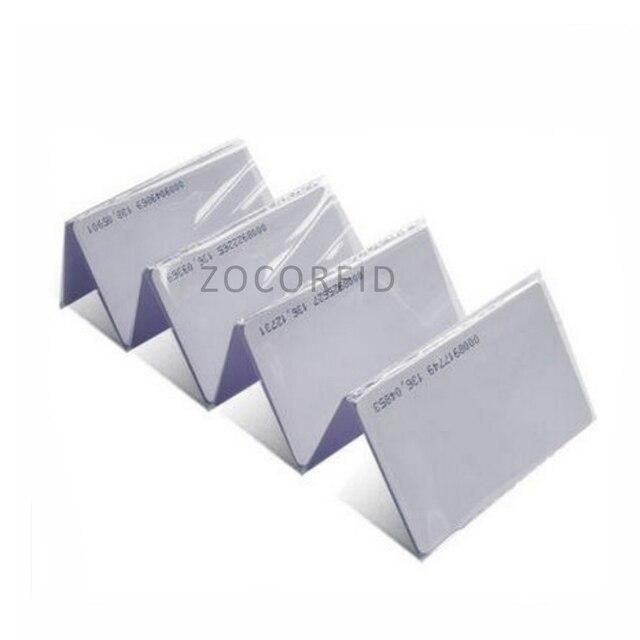 100pcs Id card thin ID access control card 125KHZ TK4100 white RFID card  size 85.5X54mm/ 10 number code