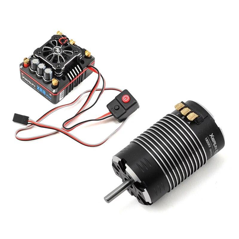 FATJAY HobbyWing XeRun 4268 SD G2 Sensored Brushless 4-pole Motor With XeRun XR8 Plus 150A Brushless Sensored ESC Combo For Cars