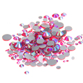 Joyas de Cristal Rhinestones Para Uñas ss3-ss30 Y Mixta Light Siam AB Strass Joyería Del Diseño Del Brillo 3D Nail Art Decoraciones