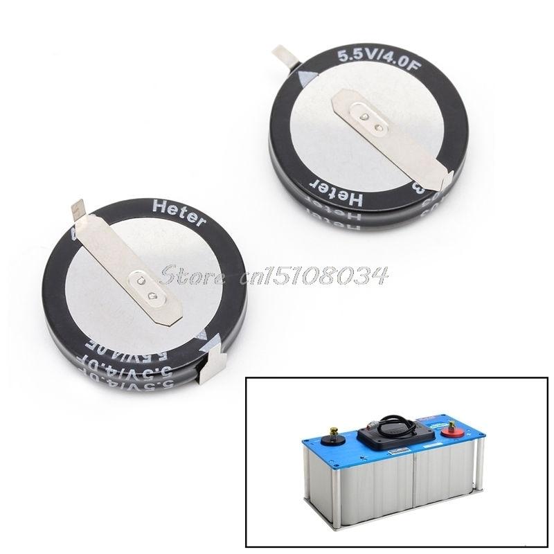 2Pcs 5.5 V 4.0F Super Capacitor H-Type Button Smart Capacitance Universal New G08 Drop ship ...