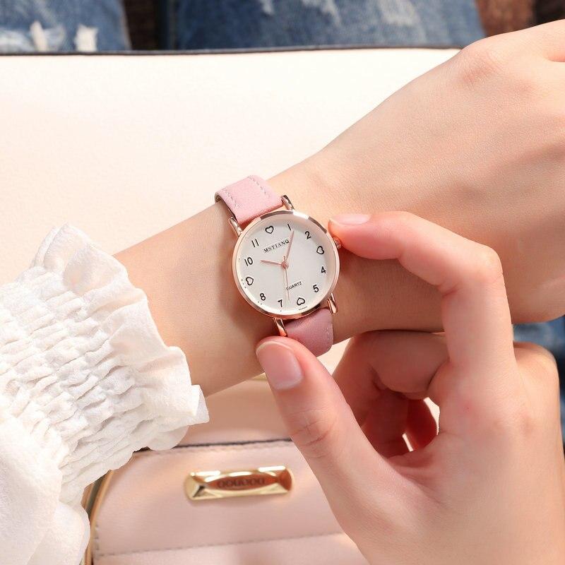 Мода Кристалл для женщин часы розовый женский звездное небо циферблат кожа кварцевые наручные часы Montre Femme 2018 горный хрусталь женские часы