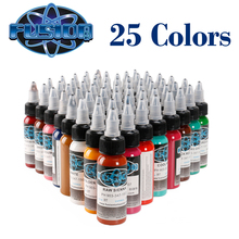 hot deal buy 25 pcs professional tattoo ink set 25 colors 1oz 30ml/bottle tattoo pigment kit  tattoo & body art permanent makeup pigment