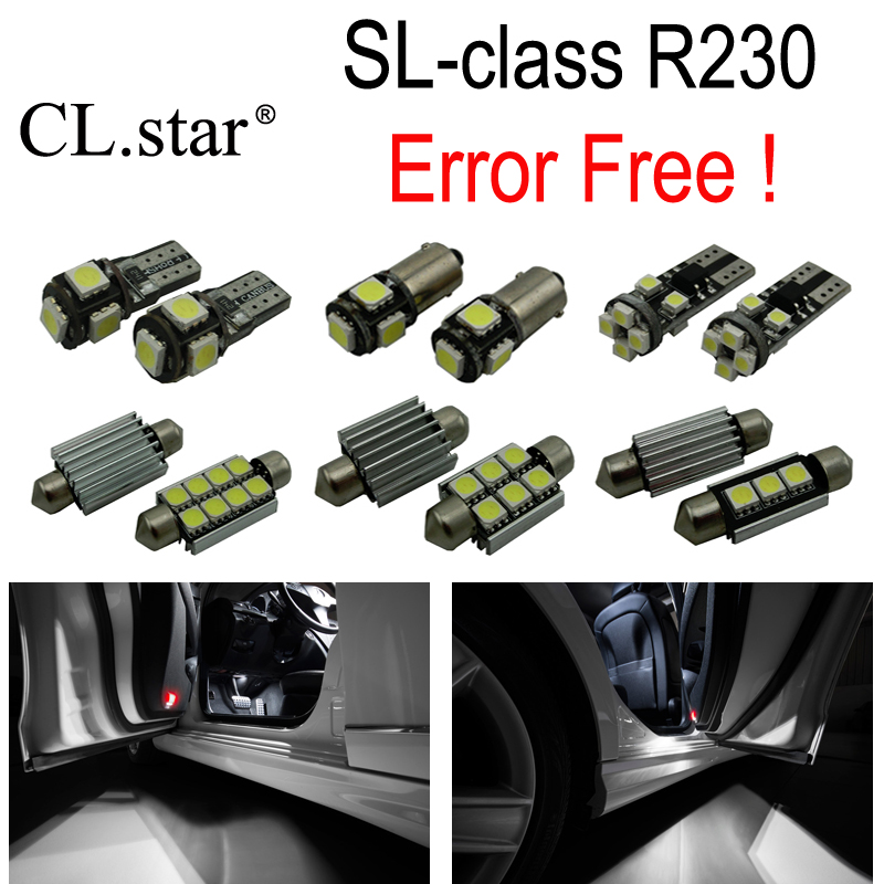 17pc X Error Free LED interior dome light lamp Kit package For Mercedes Benz SL class R230 SL500 SL600 SL55 AMG (2002-2011) 10pcs error free led lamp interior light kit for mercedes for mercedes benz m class w163 ml320 ml350 ml430 ml500 ml55 amg 98 05