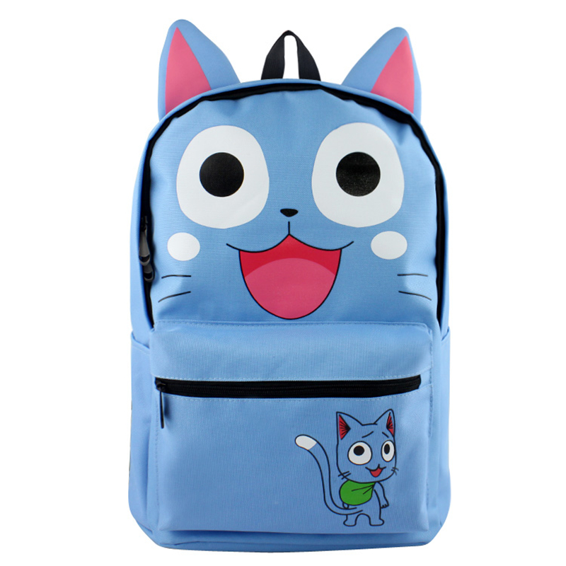Anime Fairy Tail Backpack School Bags for Teenagers Girls Cartoon Travel Nylon Bag Mochila Laptop Backpacks Rucksack logo messi backpacks teenagers school bags backpack women laptop bag men barcelona travel bag mochila bolsas escolar
