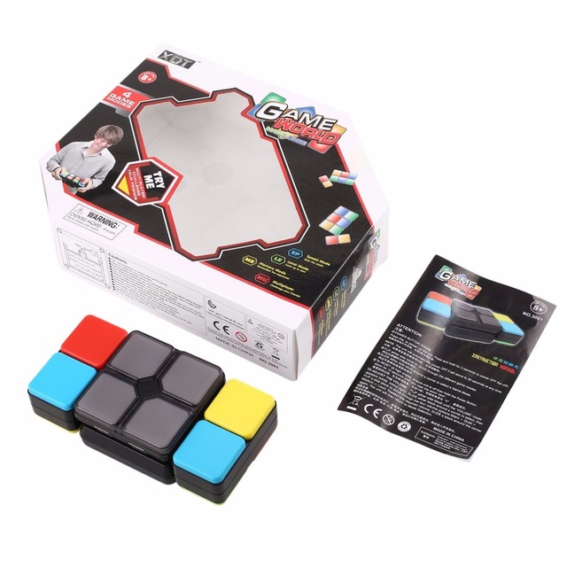 electronic modes magic cube 4 game flip slide cube puzzle toy with light speed level memory
