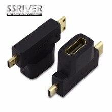 SSRIVER 3 В 1 Micor HDMI Mini HDMI Адаптер HDMI Micro/МИНИ-DM/СМ Мужчина к HDMI Женского AF тройной cd Революция Телефон таблетки