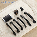 5 pcs Preto Moderno Maçanetas Gaveta Puxa Armário de Cozinha Alças e Puxadores para Móveis de Metal Alças