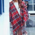 200*190 cm Las Mujeres de Talla Grande Otoño Invierno Tartan Plaid Bufanda Del Nuevo Diseñador Engrosada Algodón Chales Básicos de Las Mujeres Calientes Bufandas del silenciador