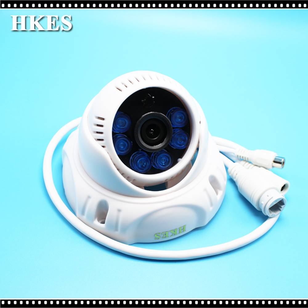 HKES Indoor 1080P ip camera/720P IP Camera Wired HD IR night vision Onvif security dome network audio camera