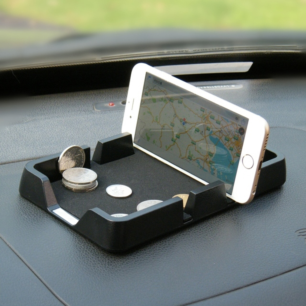 где купить Car Ornament Leather pattern Anti-Slip Pad Plastic Decoration Auto Non-slip Mat Holder Dashboard For GPS Cell Phone 18.5*10.8CM дешево