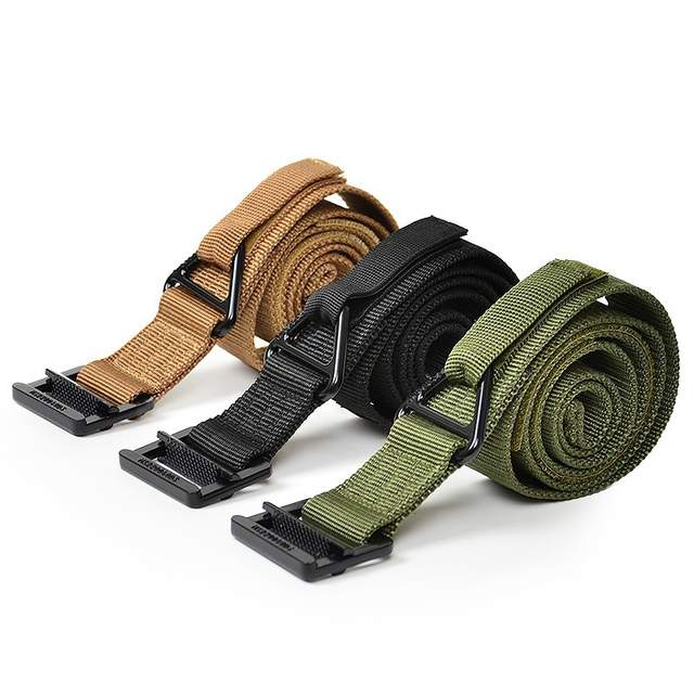 US $7 55 49% OFF|2017 NEW Outdoors Army Black C Q B Rescue Riggers Tactical  Rappelling Belt Military Gun Belt Combat hike Waist-in Men's Belts from
