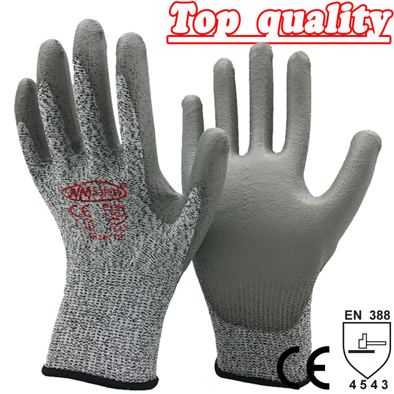 NMSafety New Arrival Working Protective Gloves Cut-resistant Anti Abrasion Safety Gloves Anti Cut Gloves. new safurance 10 paris wear resistant nylon nitrle precision protective builders gardening working safety gloves