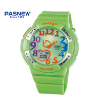 PASNEW analog digital watch with Japan movement 100M Waterproof Digital lovely Wristwatch for Boys and Girls PMG 2003AD