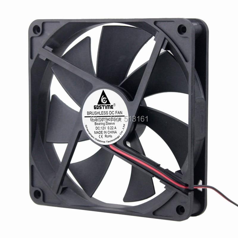 2Pcs 140x140x25mm Brushless CPU Heatsink Cooling Case Fan 140mm 12V 2Pin 14cm