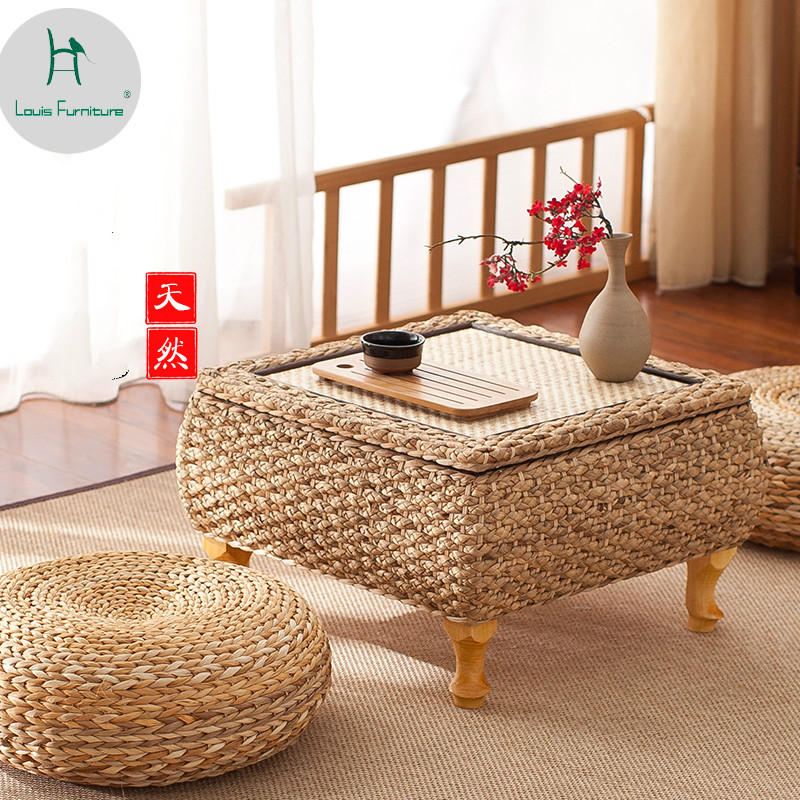 Louis Fashion Rattan Anese Floating Window Past Tatami Table Low In Coffee Tables From Furniture On Aliexpress Alibaba Group