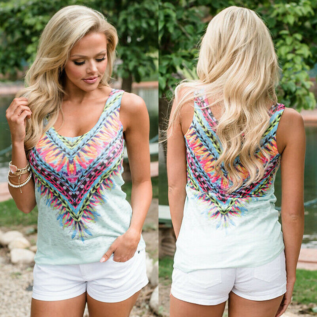 Feather V-Neck Tank Top
