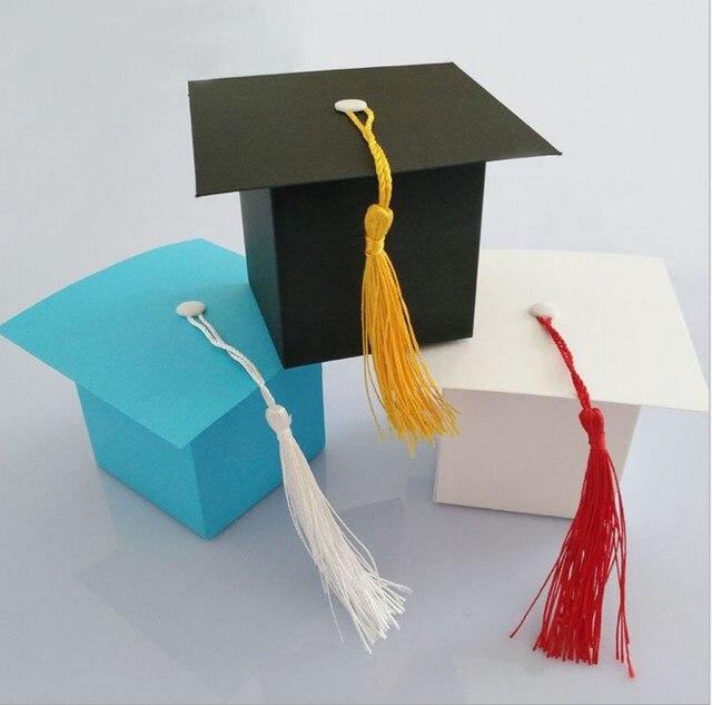 300pcs Doctor Hat Cap Candy Box Gift Bag Graduation Celebration Boys S Kids Birthday Children Day