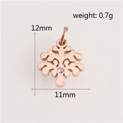 Модные аксессуары для изготовления ювелирных изделий из нержавеющей стали в форме сердца/короны/рождественской елки для изготовления браслетов и ожерелья - Цвет: AC18251
