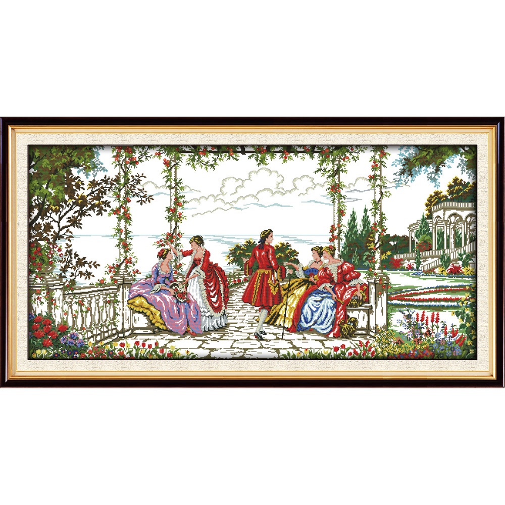 Everlasting love Aristocratic life Chinese cross stitch kits Ecological cotton printed 14CT 11CT DIY wedding decoration