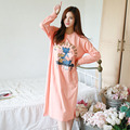 Cartoon Nightgowns Women Long Sleeve Nightgown Loose Homewear Sleepshirt For Women Cotton Nightwear Womens Nightdress