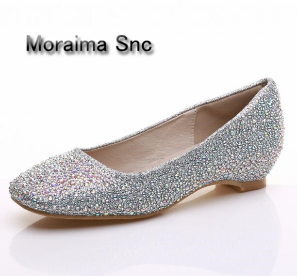 Moraima Snc wedding bride shoes bling bling crystal Pregnant shoes 3.5 cm increased internal low heels shoes mary janes shoe apoepo handmade wedding bride shoes bling bling crystal pregnant shoes 3 5 cm increased internal low heels shoes mary janes shoe
