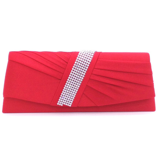 New Fashion Wanita Tas Wanita Elegan Satin Kristal Kopling Tas Malam wanita pesta  pernikahan clutch purses 7dde5e12e4