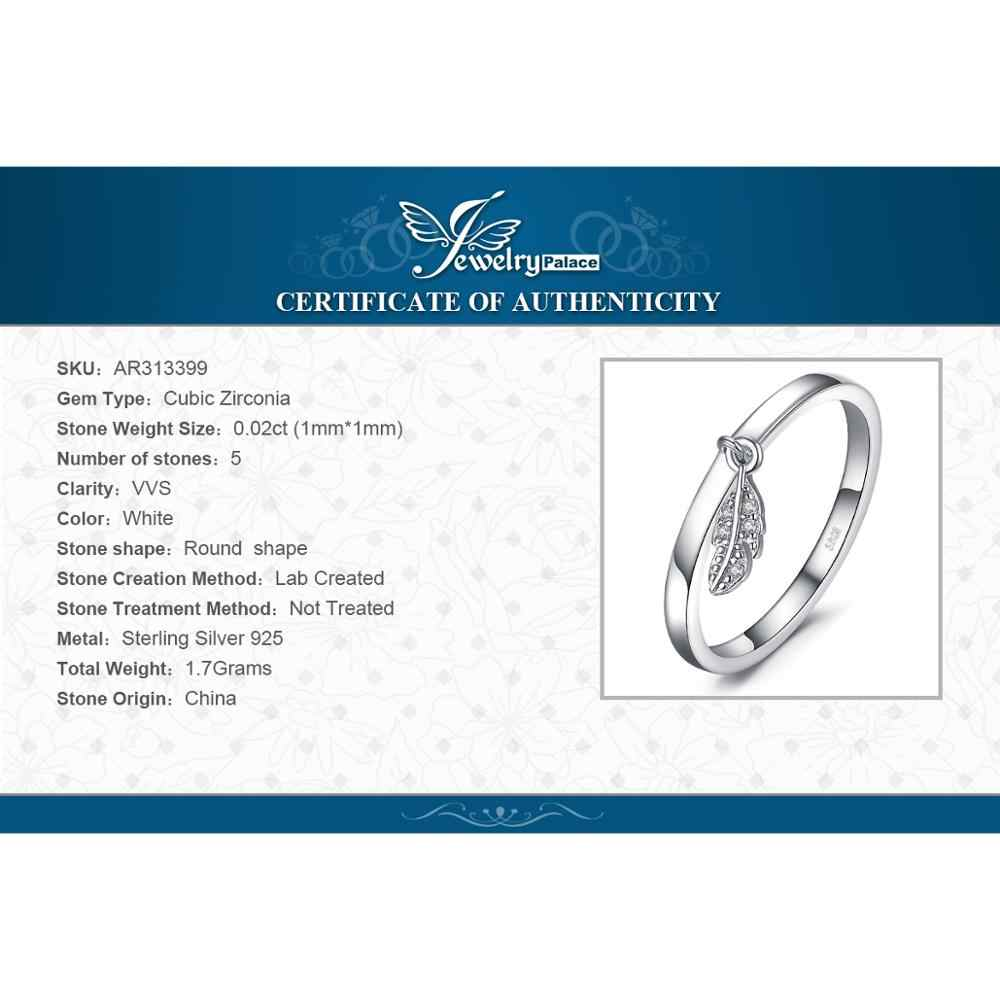 JewelryPalace Leaf Charm แหวน 925 เงินสเตอร์ลิงแหวนเงินผู้หญิงแหวนวงเงิน 925 เครื่องประดับ Fine เครื่องประดับ