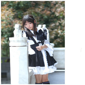Image 3 - Vestido de empregada doméstica cosplay dia de germinação animação mundo cafeteria café vestido, vestido longo, preto e branco vestido de empregada traje masculin