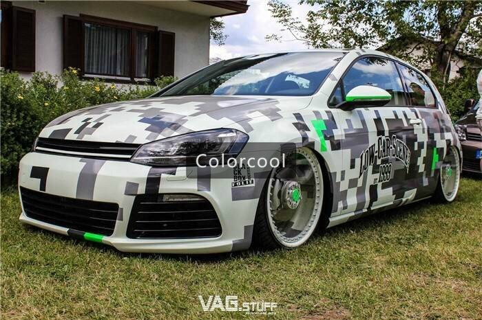 Camouflage Custom Car Sticker Bomb Camo Vinyl Wrap Car Wrap With Air