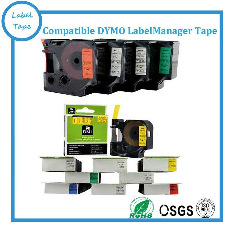 6PK kompatibel DYMO D1 12mm Label Tape 45010 45013 45016 45019 LabelManager 350